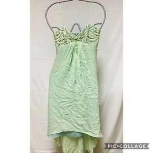 Betsey Johnson Teal beaded evening layered dress
